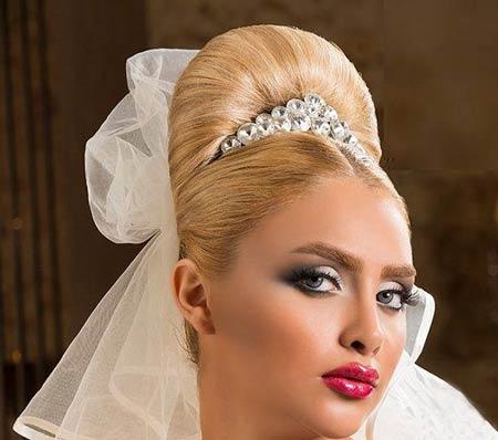 مدل آرایش و شنیون عروس 2014