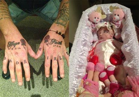 مراسم تدفین این کودک با ظاهری عجیب (عکس)