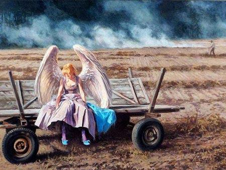 نقاشی های فانتزی عاشقانه (عکس)