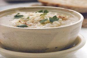 دستور طبخ سوپ سیب زمینی و جو پرک