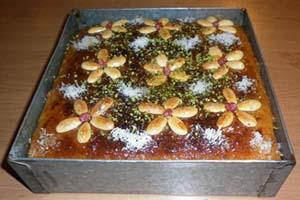 کیک باقلوا و طرز تهیه آن