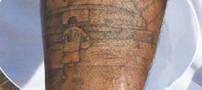 خالکوبی جالب مهاجم انگلیس روی پایش (عکس)