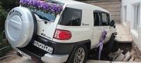 ماشین عروسی که به زمین فرو رفت!! (عکس)