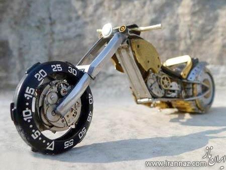 تصاویری جالب از موتورهای ساخته شده با قطعات ساعت