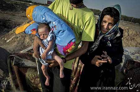 تولد نوزاد معتاد در یکی از اتوبان های تهران (عکس)