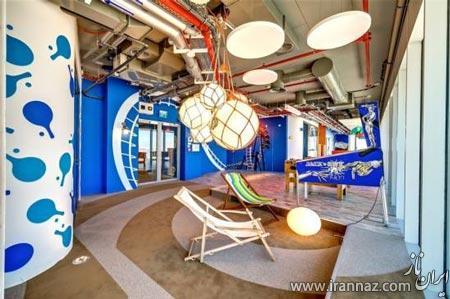 طراحی دکوراسیون دفتر گوگل در اسرائیل (عکس)