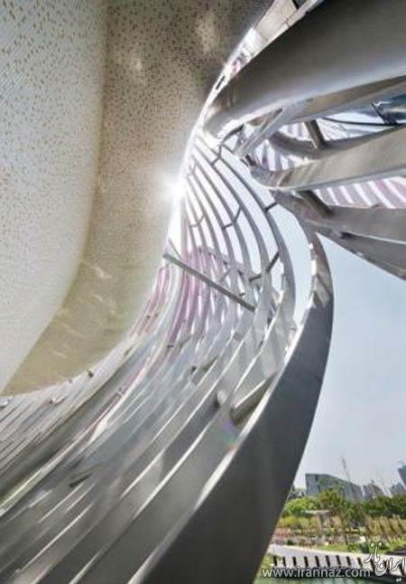 تصاویری شگفت انگیز از طراحی ساختمان نیلوفر آبی در چین
