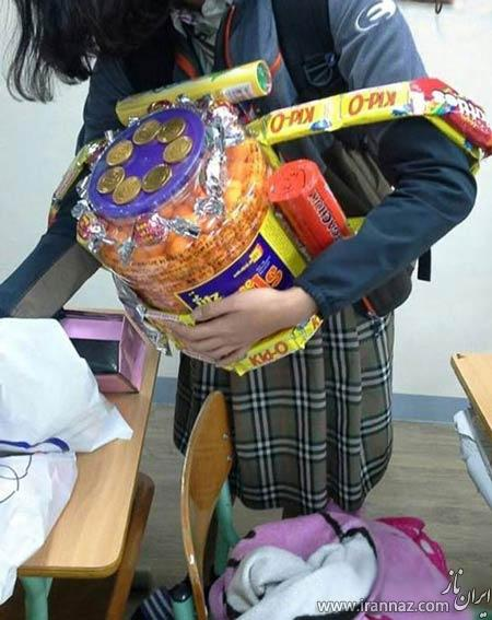 ابتکار جالب و دیدنی دانش آموزان کره ای (عکس)