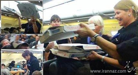 اقدام جالب خلبان برای رضایت مسافران (عکس)