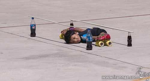 رکورد شکنی جالب پسر 6 ساله در اسکیت سواری (عکس)