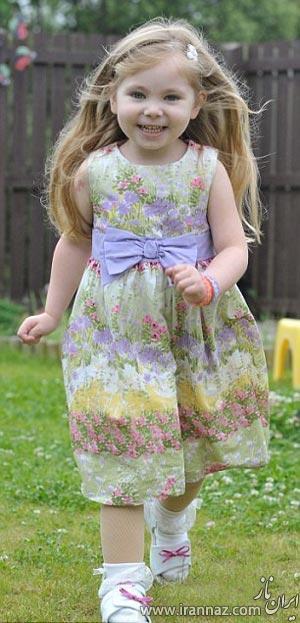 بیماری باورنکردنی این دختر بچه او را تا مرز فلج شدن می برد! (عکس)