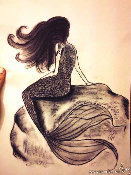نقاشی های بسیار زیبا با مداد و آبرنگ