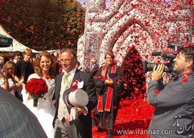 ابتکار جالب و دیدنی مرد 45 ساله برای مراسم ازدواج! (عکس)