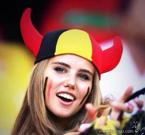 این دختر زیباترین تماشاچی فوتبال برزیل شناخته شد (عکس)