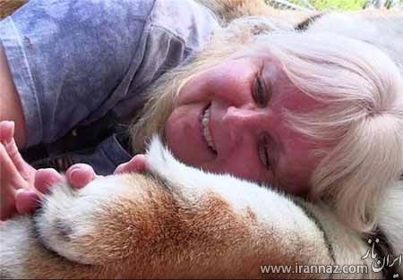 زندگی جالب این زن با دو ببر (عکس)