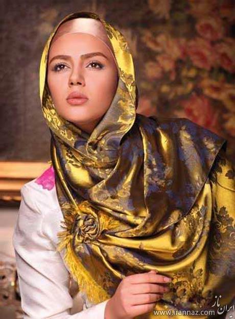زیباترین مدل های شال و روسری ایرانی