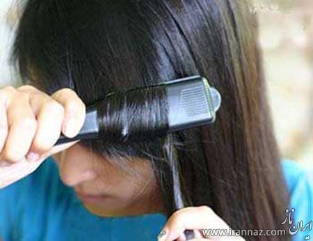 آموزش تصویری فر کردن مو در خانه