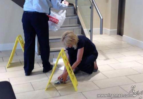 گنده کاری مرد متشخص در بانک همه را فراری داد! (عکس)