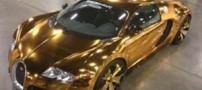 بوگاتی ساخته شده از طلای 24 عیار (عکس)