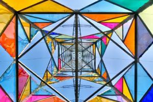 اثر هنری دانشجویان آلمانی روی دکل برق (عکس)