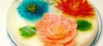 آموزش تهیه دسر تزریقی گل دار
