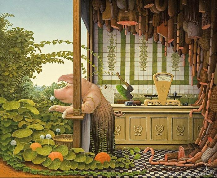 نقاشی های مفهومی و زیبا از یک هنرمند لهستانی