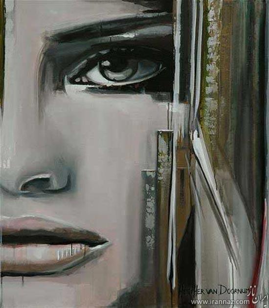 نقاشی های زیبا از چهره با شن و ماسه