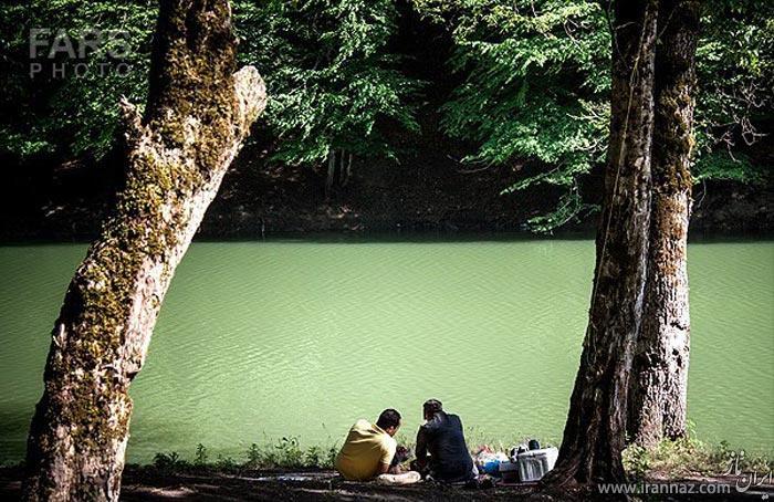 عکس های زیبا از طبیعت بهاری دریاچه چورت