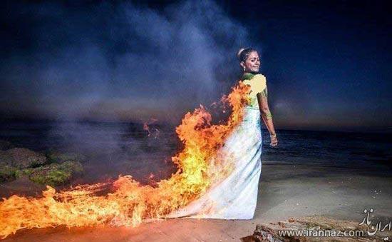 خلاقیت دیوانه وار عروس برای ماندگار شدن! (عکس)
