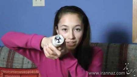 خلاقیت دختر کانادایی در ساخت چراغ قوه (عکس)