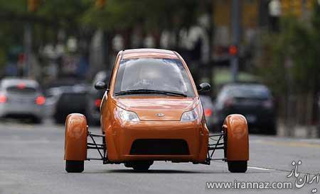 خودروی کوچک Elio شبیه یک موتور سیکلت (عکس)