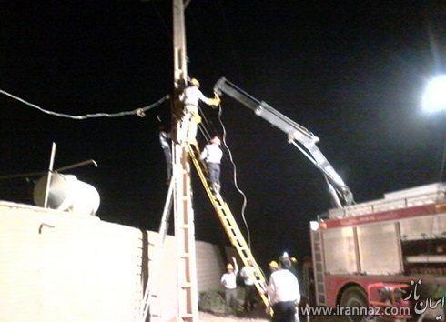 تیر چراغ برق موجب مرگ مرد دزفولی شد! (عکس)