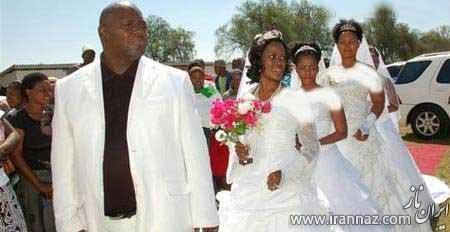 ازدواج یک شبه این مرد با 4 دختر! (عکس)