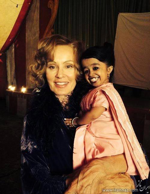 کوتاه ترین هنرپیشه زن در جهان (عکس)