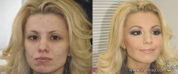 تغییر چهره اعجاب انگیز دختران پس از آرایش (عکس)