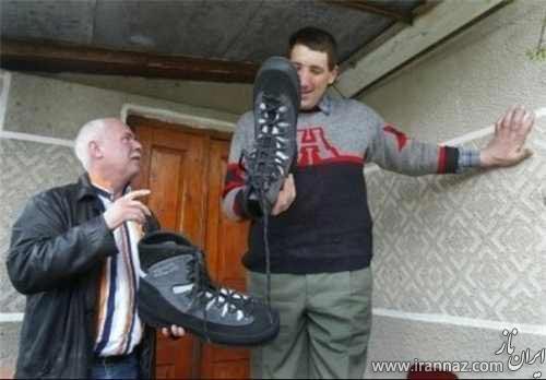 مرد قد بلند جهان درگذشت (عکس)