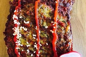 دستور تهیه کوکو سبزی و گوشت
