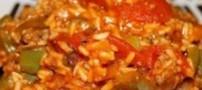 طرز تهیه پلو گوشت و سبزیجات