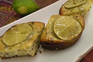آموزش تهیه کیک لیمو با تخم خرفه