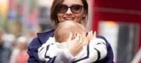 جنجالی شدن شیر دادن میرانداکر به فرزندش! (عکس)