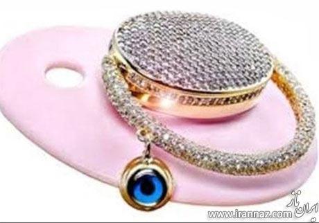 گران ترین پستانک ساخته شده از نگین و الماس (عکس)