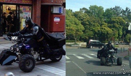 گشت و گذاری مردی در ژاپن که خود را شبیه بتمن کرده است