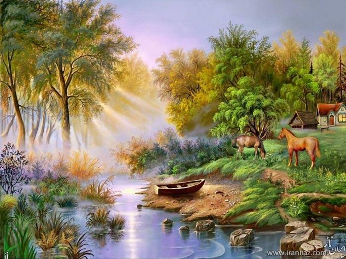 لذت تماشای این نقاشی های زیبا را از دست ندهید