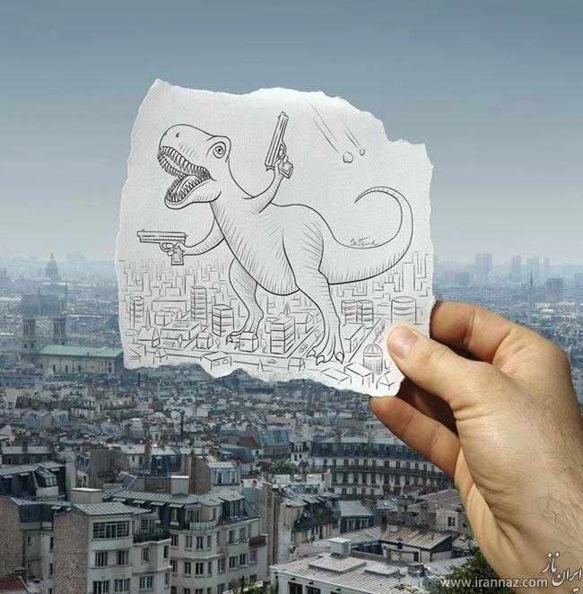 شاهکارهای خارق العاده نقاشی با مداد از بن هاینه