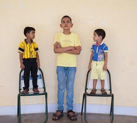 قد 170 سانتی پسر بچه 5 ساله همه را شوکه کرد! (عکس)
