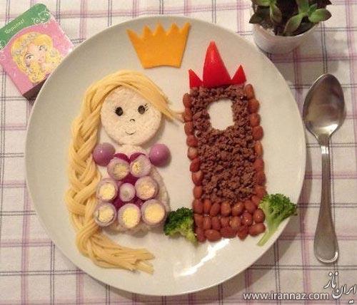 خلاقیت جالب مادر برای اشتهای کودکش (عکس)