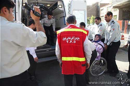 سنگین وزن ترین زن ایرانی پس از 8 سال از خانه خارج شد! (عکس)