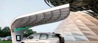 طراحی و راه اندازی ایستگاه خورشیدی برای اتومبیل (عکس)