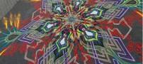 نقاشی های دیدنی یک مرد با شن و ماسه (عکس)