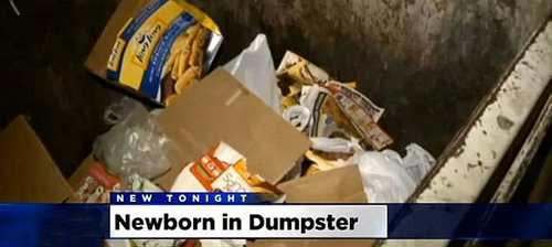 پیدا کردن یک نوزاد در سطل زباله! (عکس)